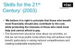 skills for the 21 st century 2003