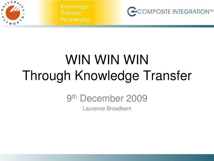 win win win through knowledge transfer n.
