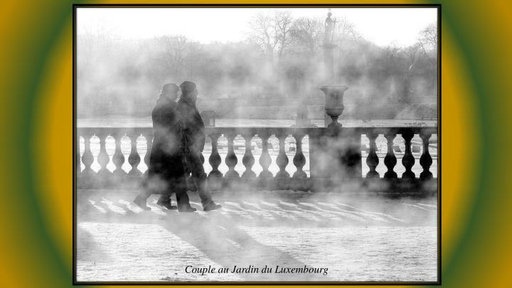 Couple au Jardin du Luxembourg