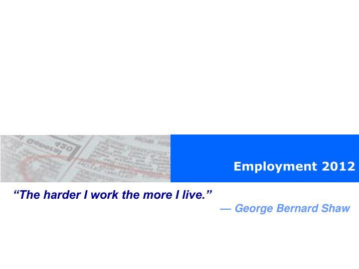 Employment 2012