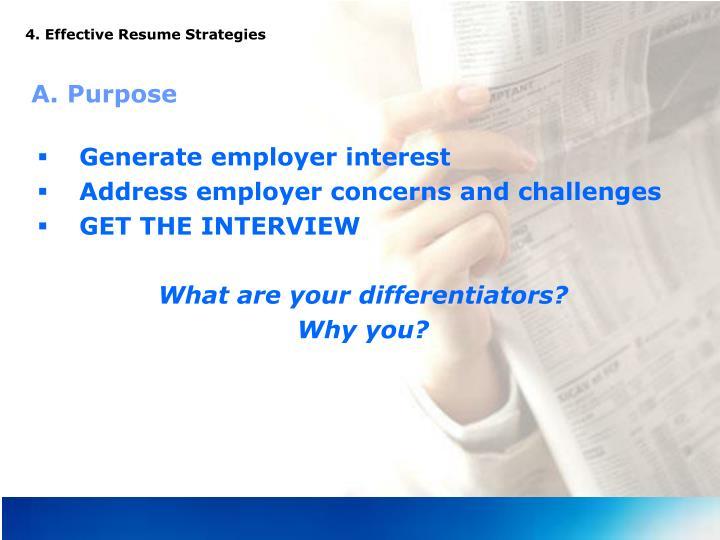 4. Effective Resume Strategies
