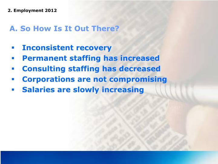 2. Employment 2012
