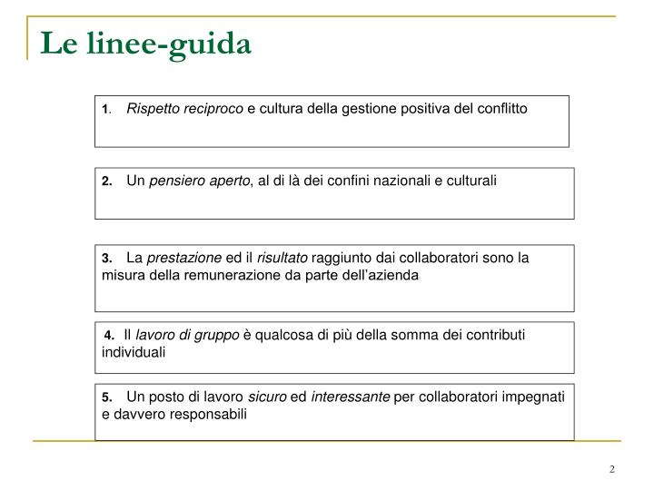 Le linee guida