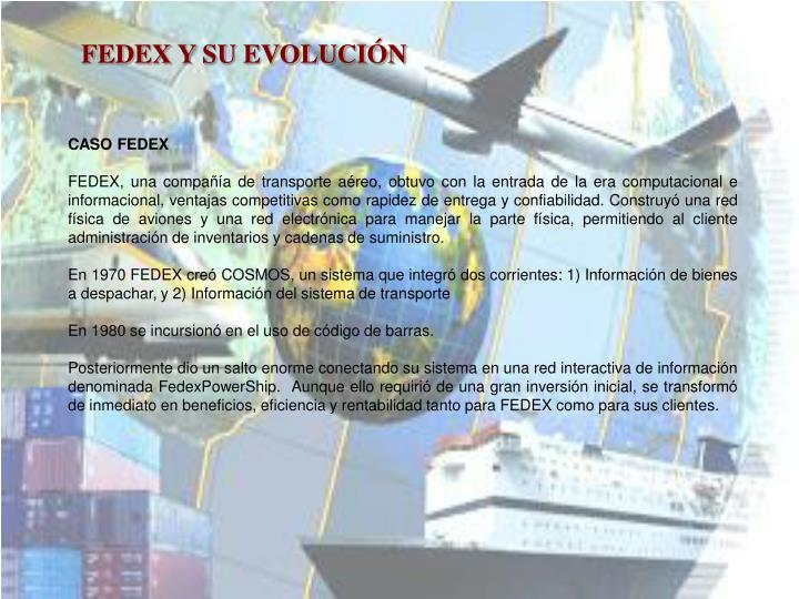 FEDEX Y SU EVOLUCIÓN