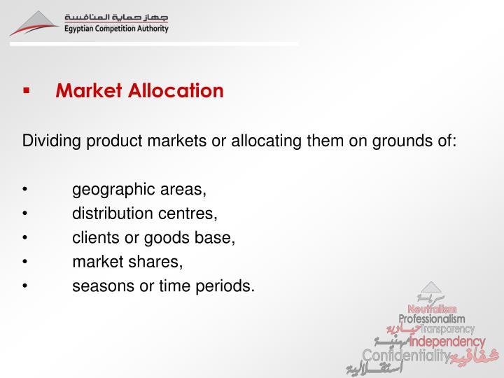 Market Allocation