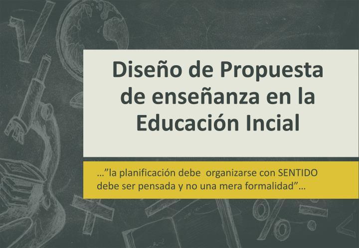 Diseño de Propuesta de enseñanza en la Educación Incial