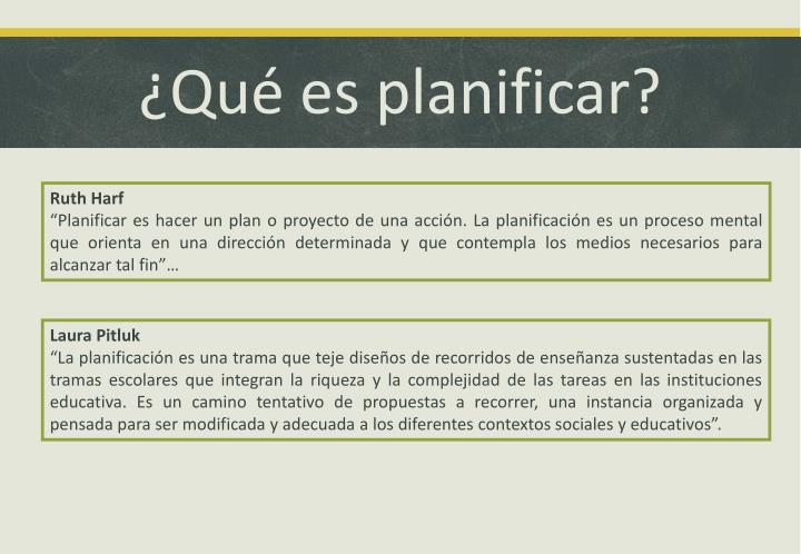 ¿Qué es planificar?