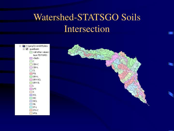Watershed-STATSGO Soils Intersection