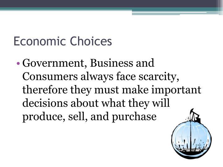 Economic Choices