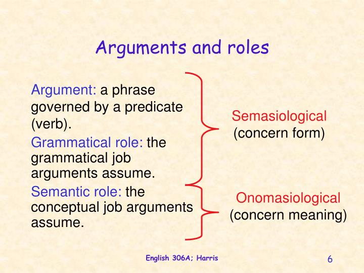 Arguments and roles