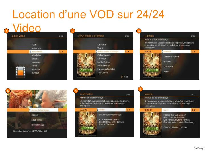 Location d'une VOD sur 24/24 Video