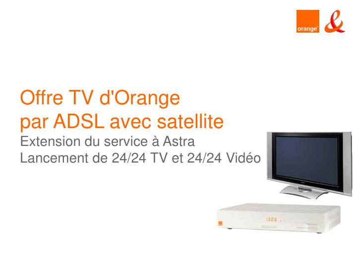 Offre TV d'Orange