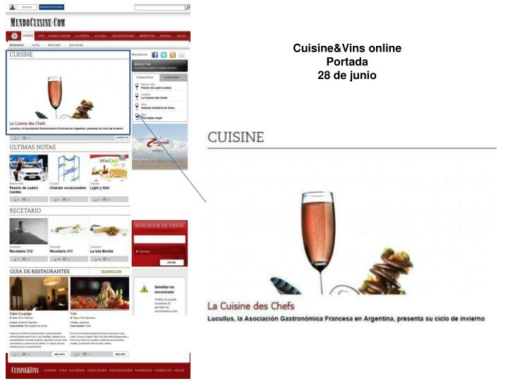 Cuisine&Vins online