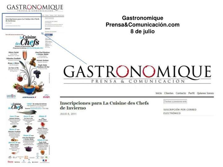 Gastronomique Prensa&Comunicación.com