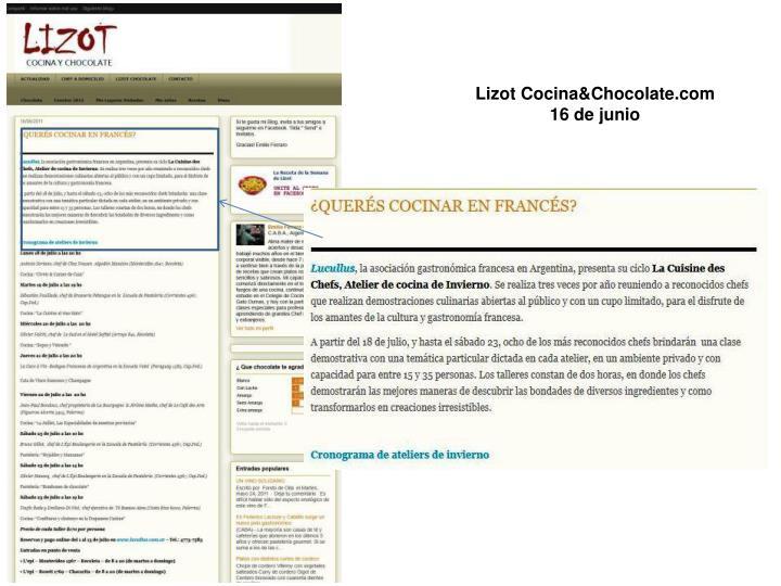 Lizot Cocina&Chocolate.com