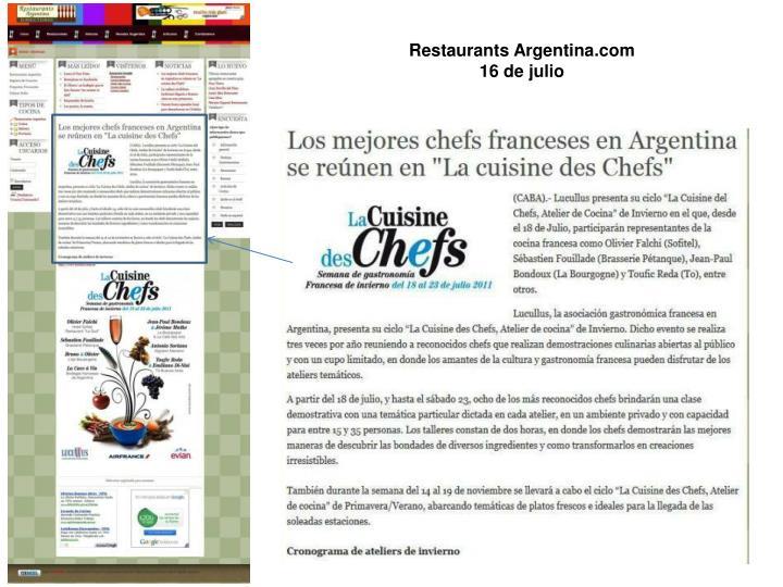 Restaurants Argentina.com