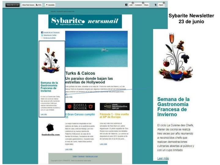 Sybarite Newsletter