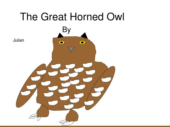 the great horned owl n.