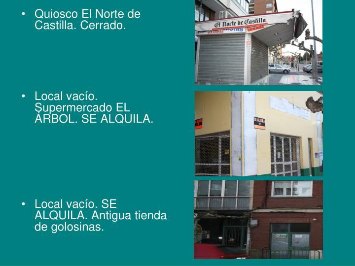 Quiosco El Norte de Castilla. Cerrado.