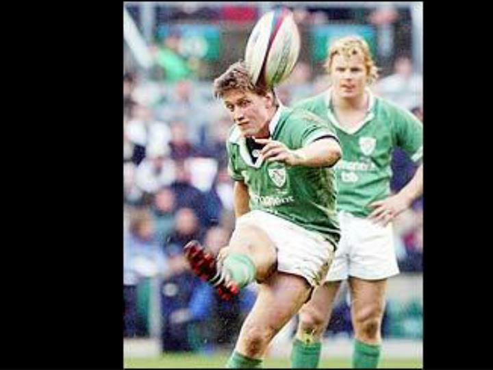 Ireland take the lead going into half time.