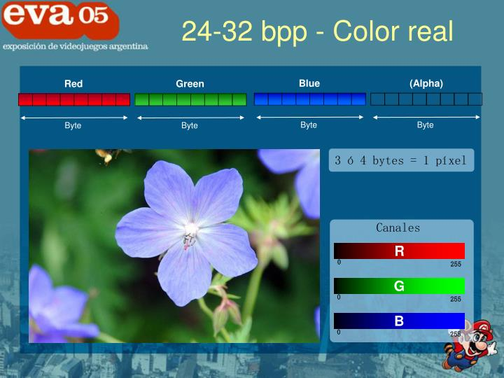 24-32 bpp - Color real