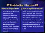 ct registration registro ec