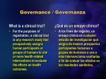 governance governanza