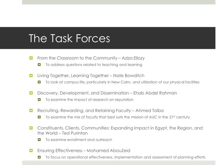 The Task Forces