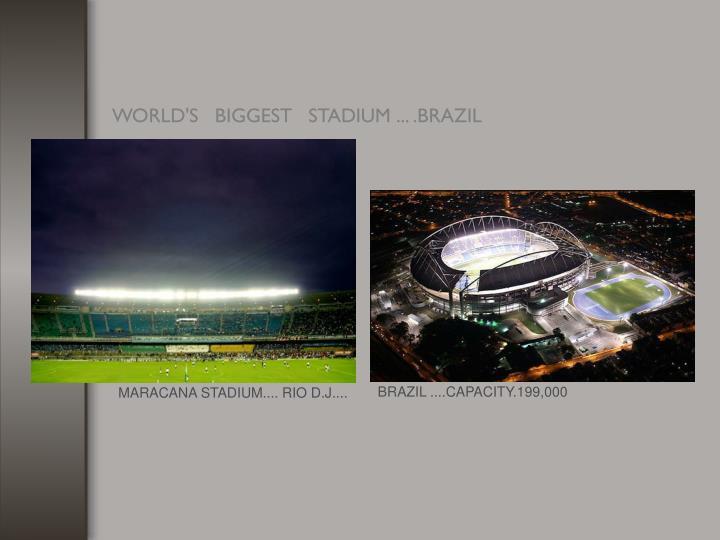 BRAZIL ....CAPACITY.199,000