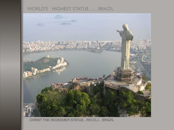 CHRIST THE REDEEMER STATUE...RIO.D.J... BRAZIL