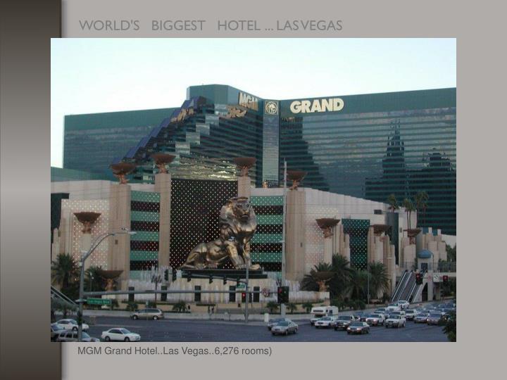 MGM Grand Hotel..Las Vegas..6,276 rooms)