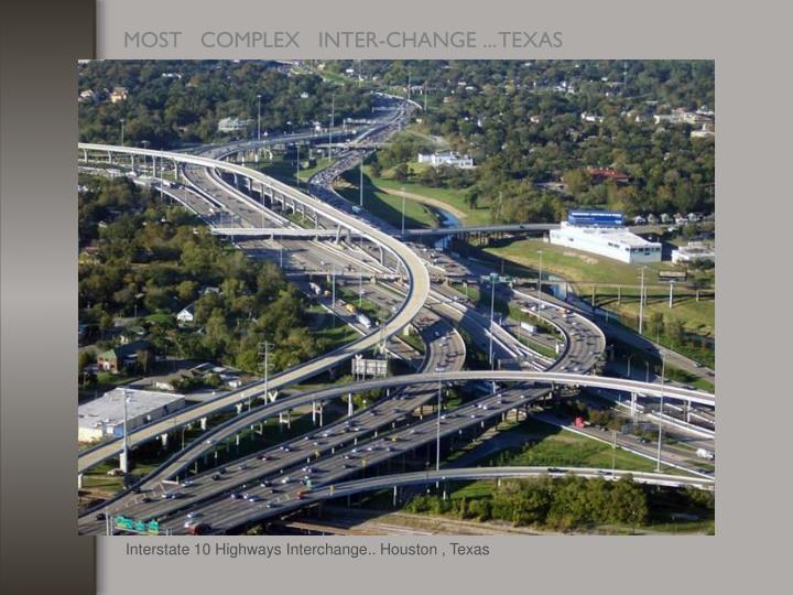 Interstate 10 Highways Interchange.. Houston , Texas