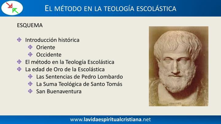 El método en la teología escolástica