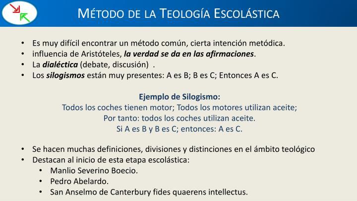 Método de la Teología Escolástica