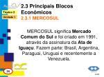 2 3 principais blocos econ micos 2 3 1 mercosul