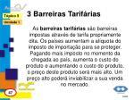 3 barreiras tarif rias