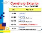 cronograma turma emd0119