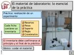 el material de laboratorio lo esencial de la pr ctica