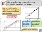 interpolaciones y extrapolaciones sac ndole partido a las rectas