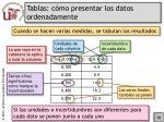 tablas c mo presentar los datos ordenadamente