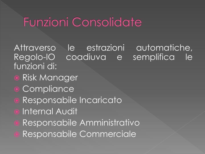 Funzioni Consolidate