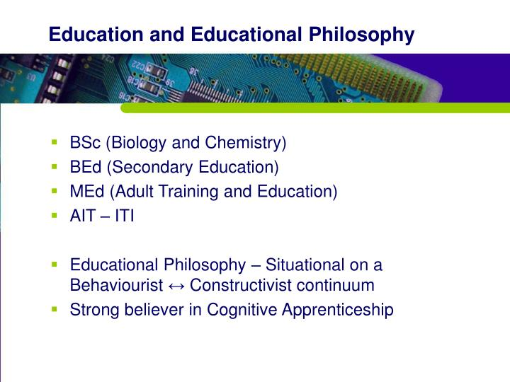 Education and Educational Philosophy