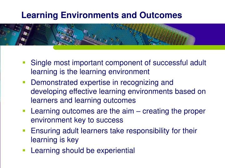 Learning Environments and Outcomes