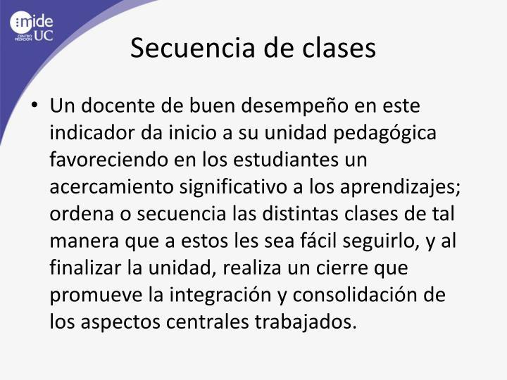 Secuencia de clases