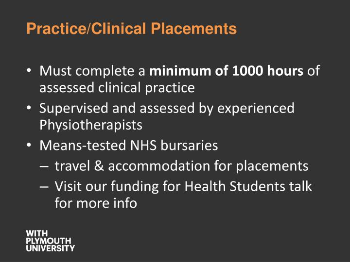 Practice/Clinical Placements