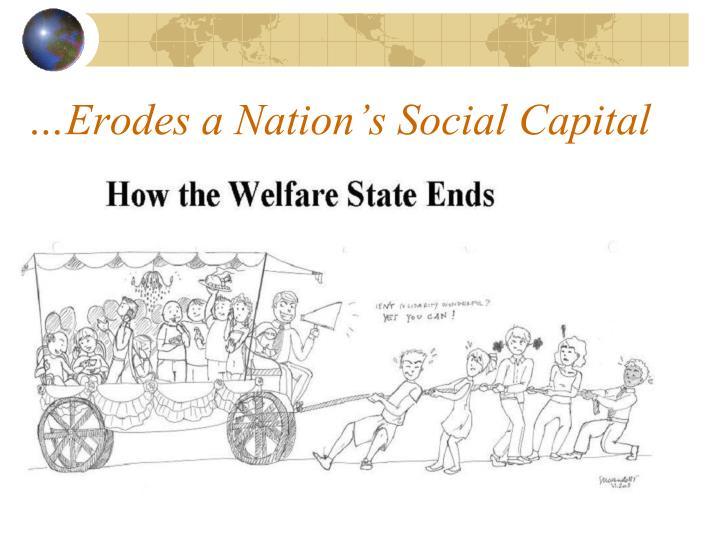…Erodes a Nation's Social Capital