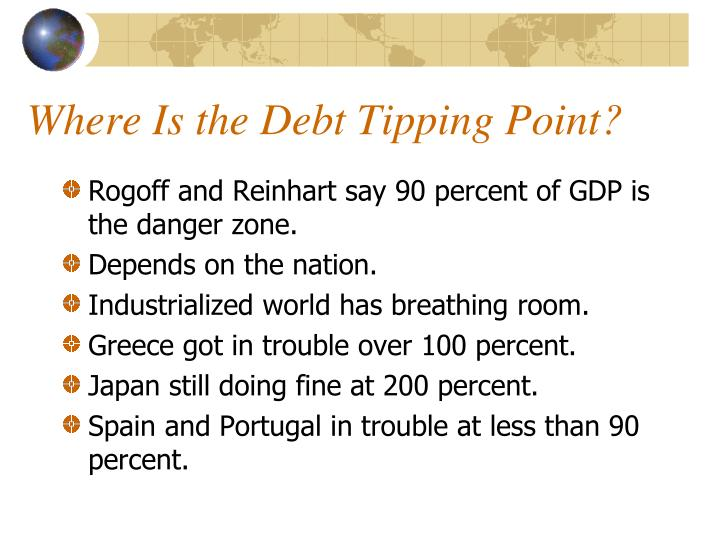 Where Is the Debt Tipping Point?