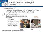 scanners readers and digital cameras