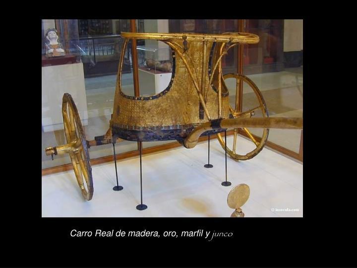 Carro Real de madera, oro, marfil y