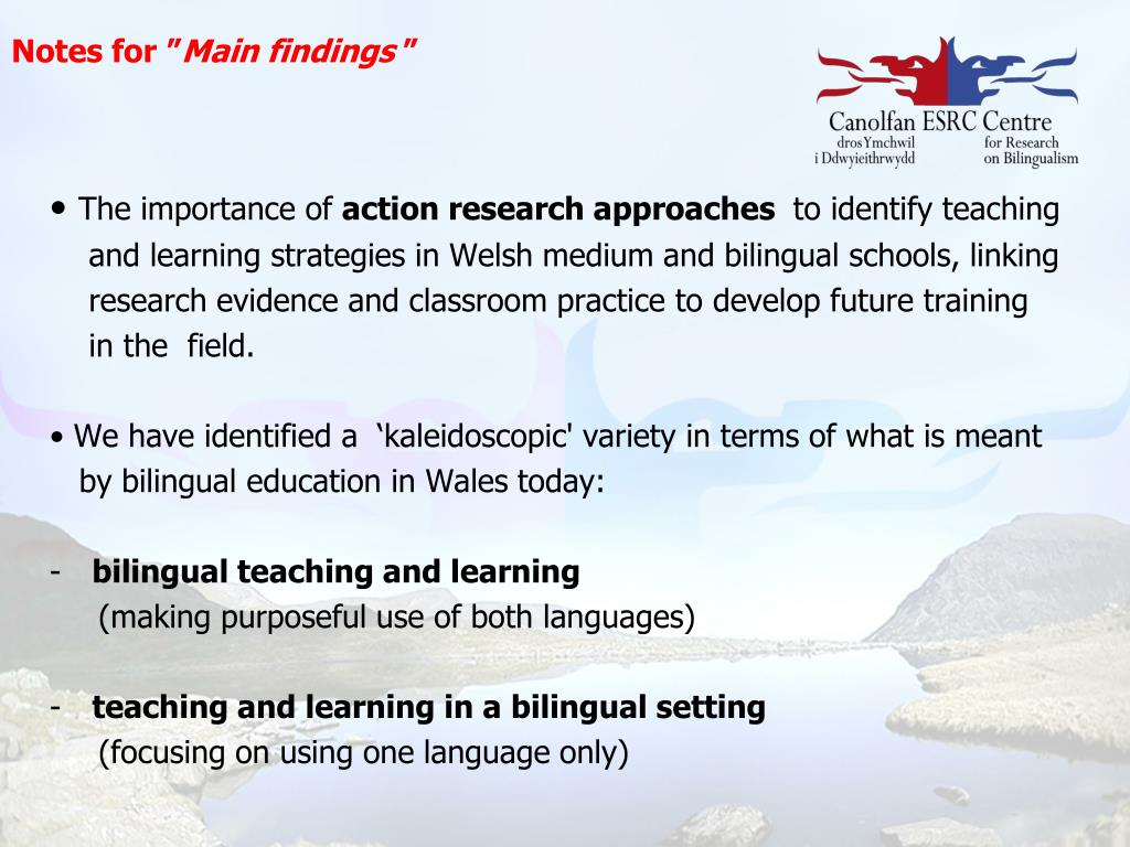 PPT - Bilingual Education Research in Schools in Wales